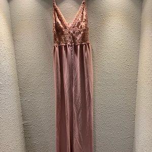 Love Couture jumpsuit. Dark Rose color. Size M